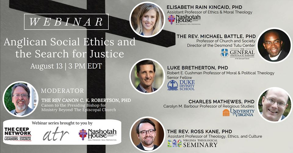 ATR Co-Sponsored Webinar for Anglican Social Ethics and the Search for Justice